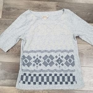 Lucky Brand | Embroidery Style Tee